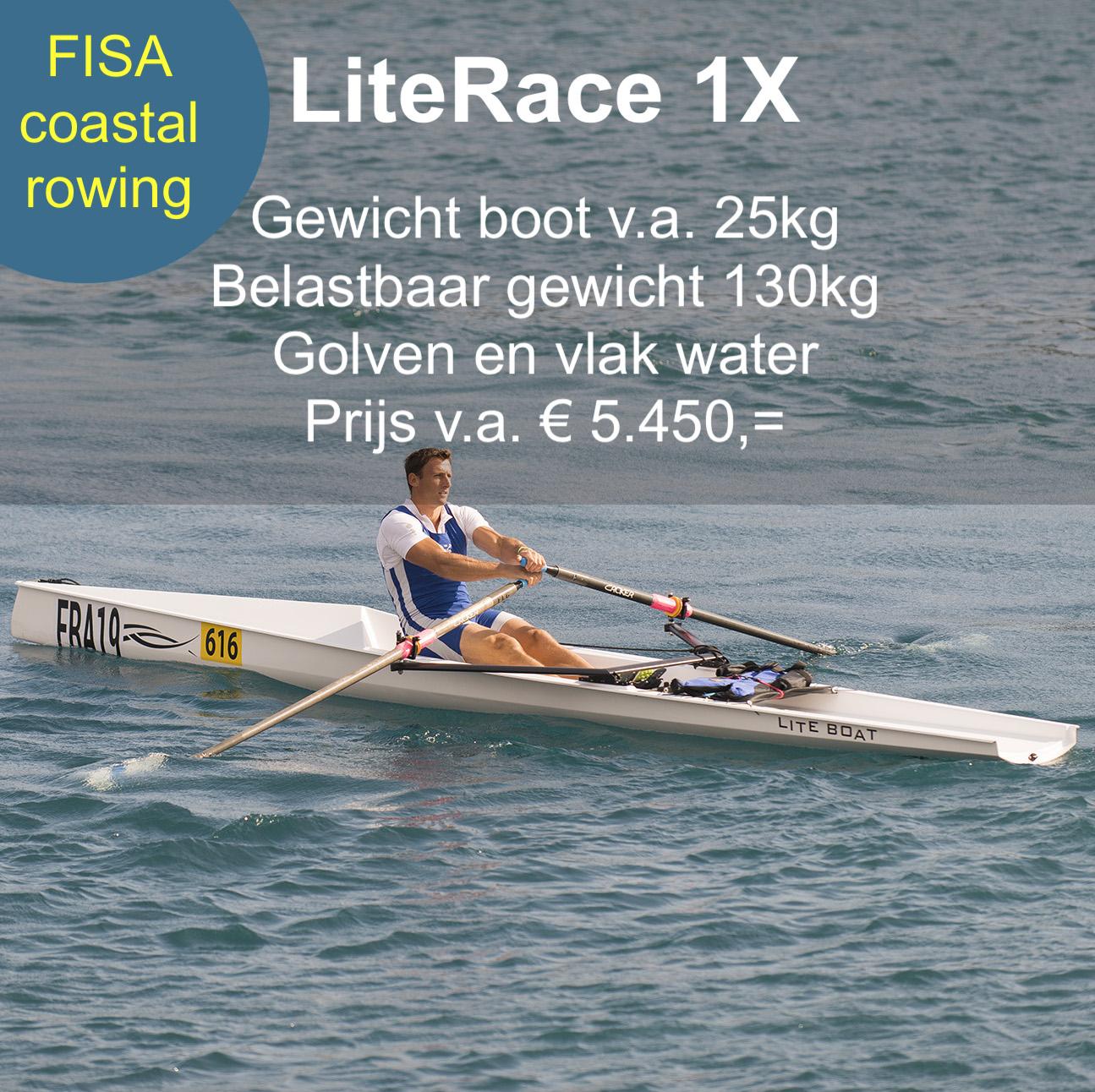 Coastal Rowing LiteRace 1X Liteboat roeien