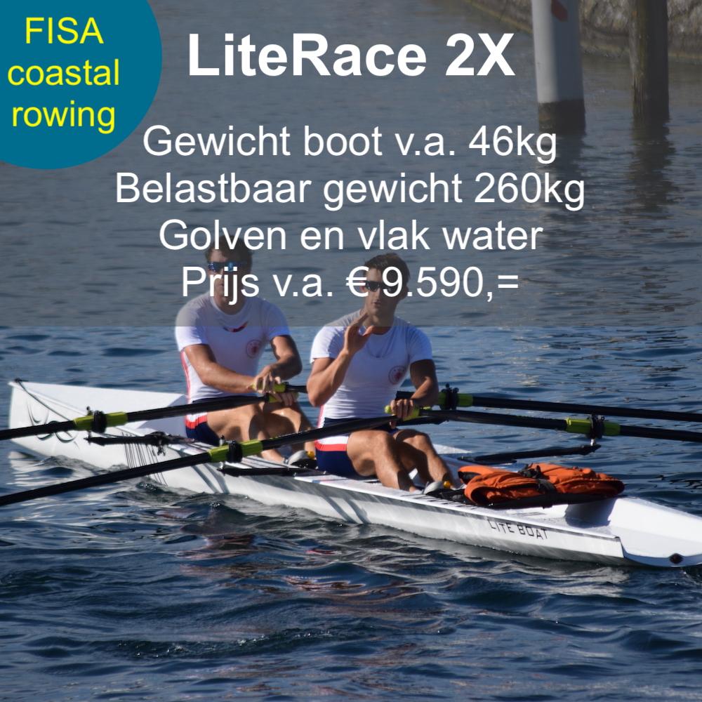 LiteRace 2x, coastal rowing, roeien, Liteboat