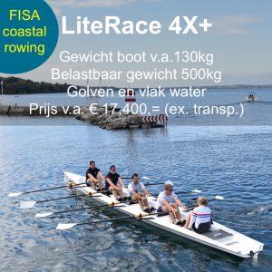 Coastal Rowing LiteRace 4X+ Liteboat roeien