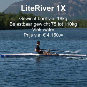 Roeien LiteRiver 1X Liteboat