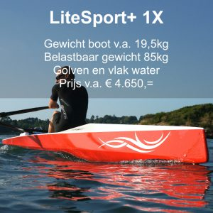 Roeien, LiteSport+ 1X, Liteboat