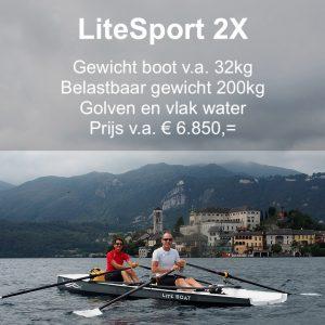Roeien LiteSport 2X Liteboat