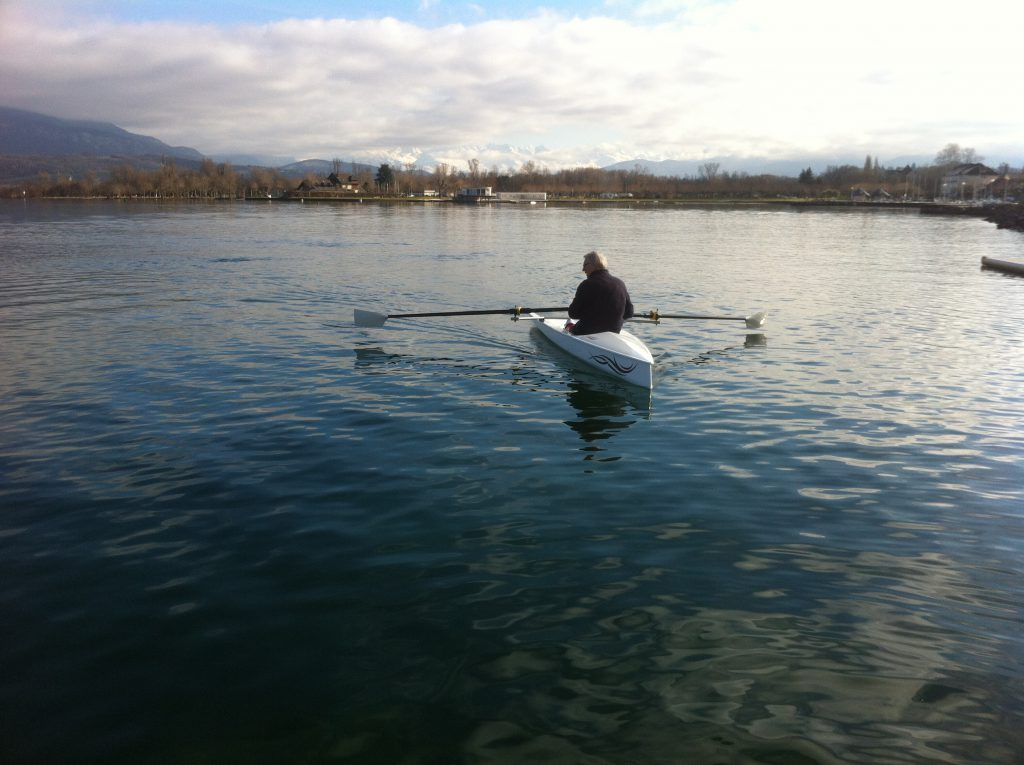 LiteSport 1X, roeiboot op Lac du Bourget