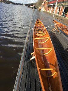 C1 houten roeiboot occasion