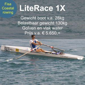 LiteRace 1X Roeien Coastal Rowing
