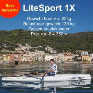 LiteSport 1X roeiboot skiff