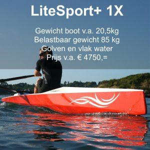 LiteSport 1X+ roeiboot skiff
