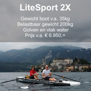 LiteSport 2X Roeien Skiff
