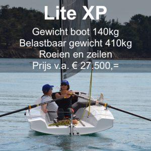 Roei- en zeilboot, licht, stabiel en makkelijk te vervoeren